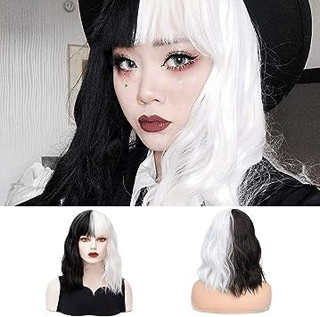 parrucca nera cosplay