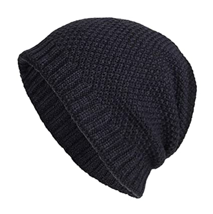 302d6116f33 Image Unavailable. Image not available for. Color  SUKEQ Winter Beanie Hat  Slouchy Snow Thick Knit Skull Cap Men Women ...