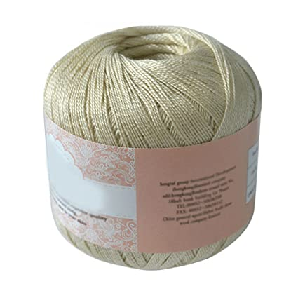 brussels08 Cable de algodón mercerizado hilo bordado de hilo para tejer Crochet encaje joyería, algodón