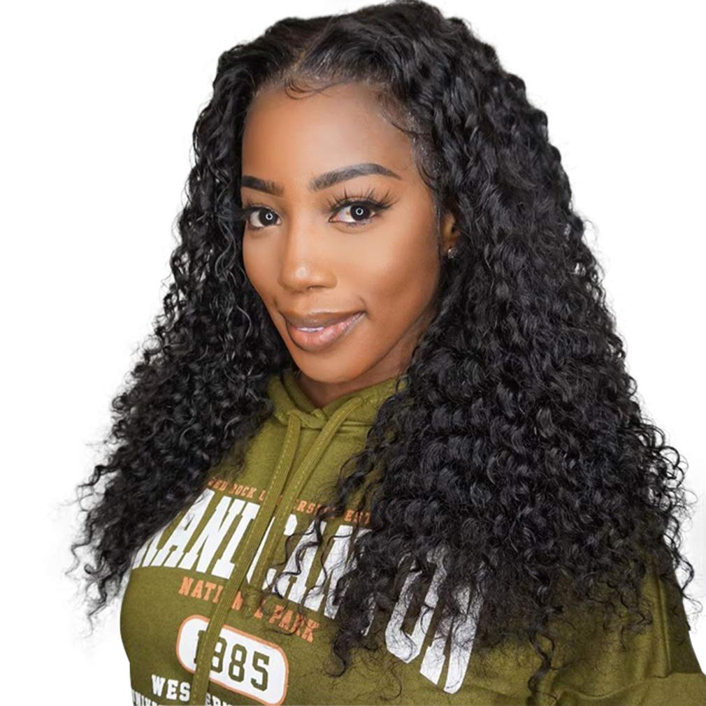 4x4 Closure Wigs Human Hair Lace Wig Kinky Ultra-Cheap Deals Curly Fron Quantity limited
