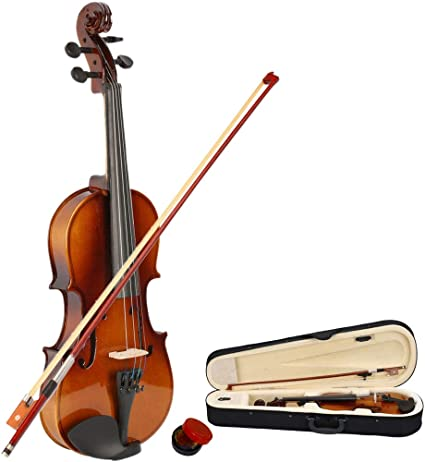 Summer SALE Paititi 1//2 Solid Wood Violin w Case One Bow Rosin Tuner