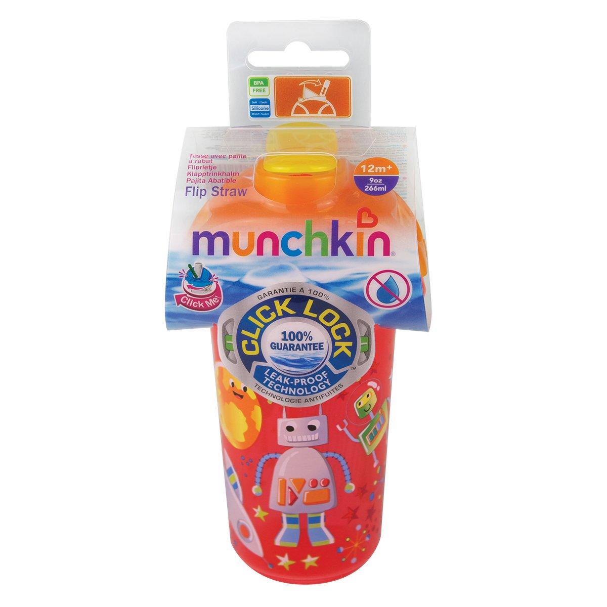 Munchkin Tasse dApprentissage D/écor/ée Mod/èle Al/éatoire Click Lock