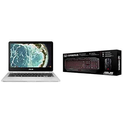 ASUS Chromebook Flip C302CA-DH54 12 5-inch Touchscreen Convertible  Chromebook and ASUS Cerberus Gaming Keyboard and Mouse Combo