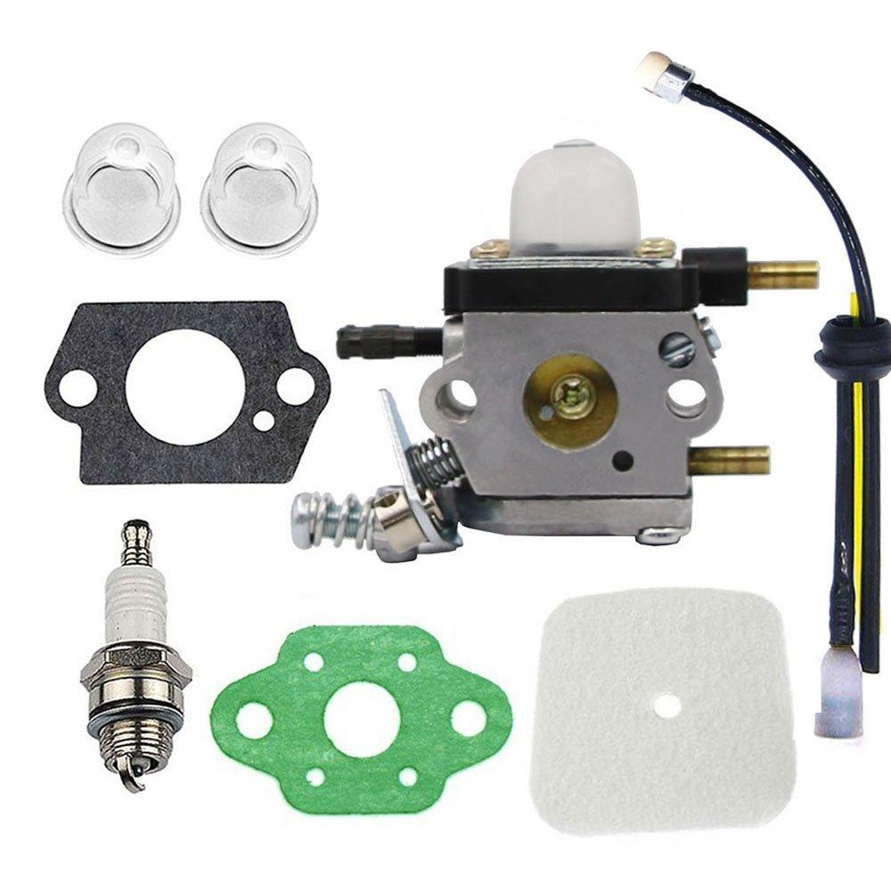Hippotech Carburetor Repower Kit for Echo Tiller ZAMA C1U-K54A C1U-K54 C1U一k82 Works for 2-Cycle Mantis 7222 7222E 7222M 7225 7230 7234 7240 7920 7924