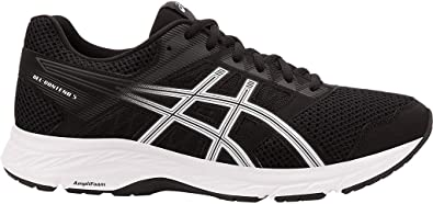 ASICS Gel-Contend 5 Zapatillas de running para hombre, Negro (Negro/Blanco), 47 EU: Amazon.es: Zapatos y complementos