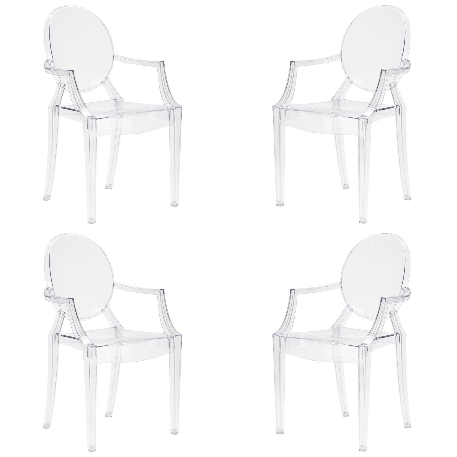 Poly and Bark Burton Arm Chair in Clear (Set of 4) by POLY & BARK (Image #7)