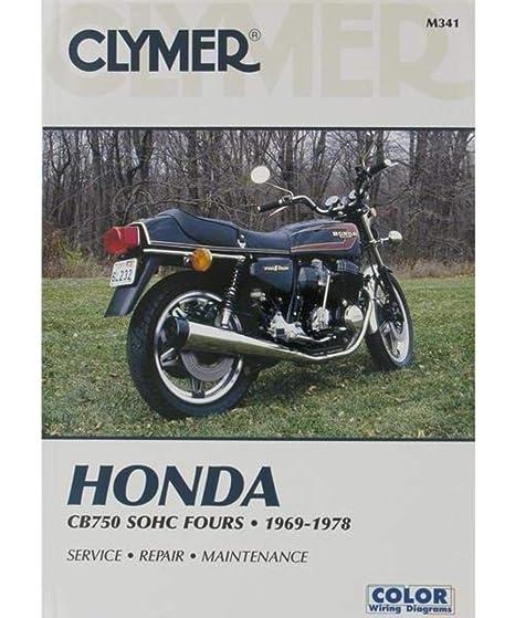 amazon com: clymer honda in-line fours cb750 sohc manual m341: automotive