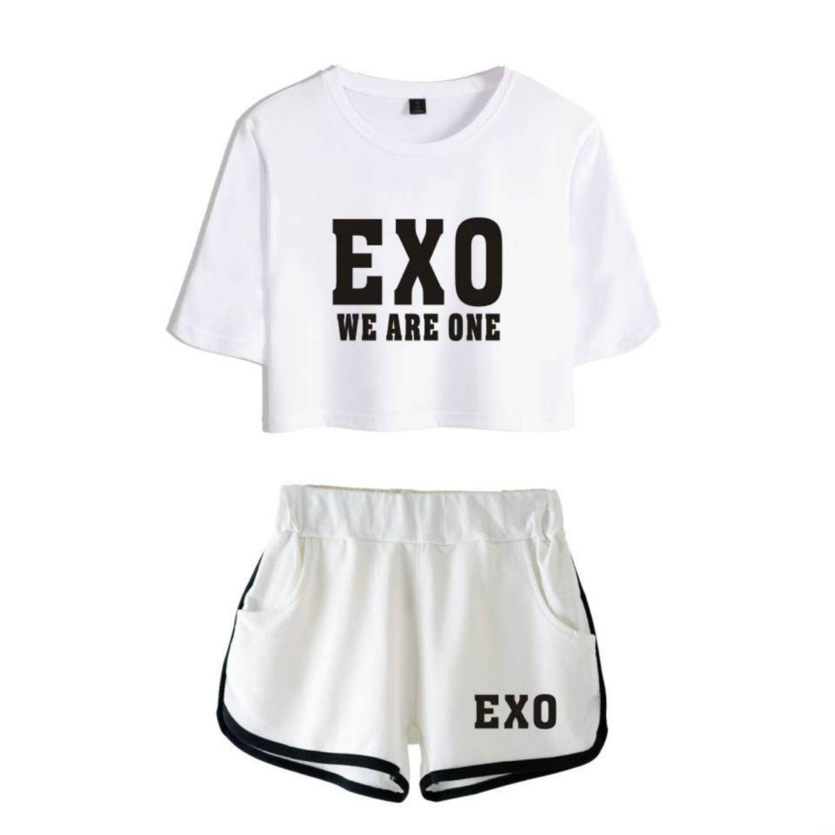 69497454cae487 Kpop Exo Kai Chanyeol Sehun Xiumin Baekhyun Coton Sexy Femmes ...