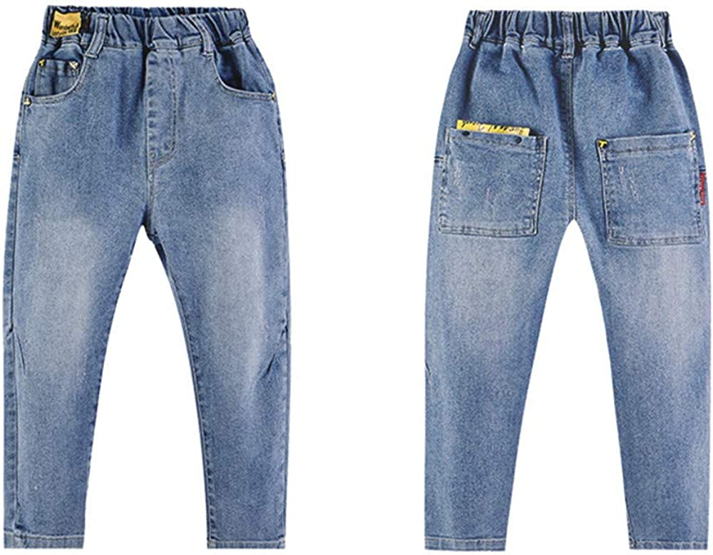 Boys Jeans Casual Jeans Spring and Autumn Childrens Pants Trendy Pants