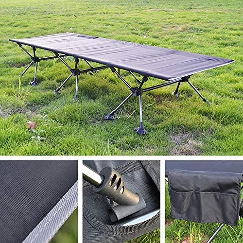Xiao Long Lit pliant, pliant portable extérieur Lit Camping Lit simple Bureau Déjeuner d'accompagnement Lit pliant en aluminium Lit de camp lit de camp