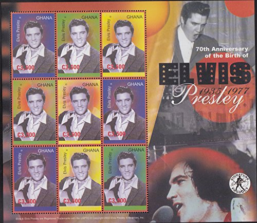 Ghana Elvis Presley 70th Anniversary Collectible Postage Stamps 2498