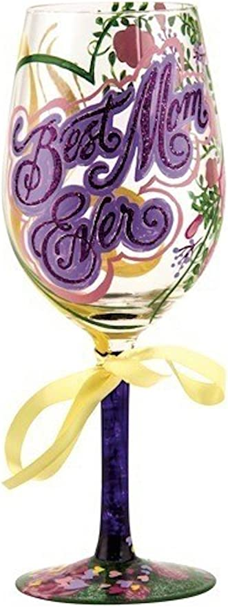 "Lolita Love My Wine /""Trophy Wife/"" Artisan Hand Painted 15 oz Wine Glass New"