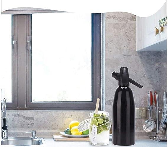 LBSX Manual de Burbuja 1L Soda sifón dispensador de Agua del generador de frío Cóctel Soda Machine Barra de Aluminio de Bricolaje Fabricante de Soda: Amazon.es