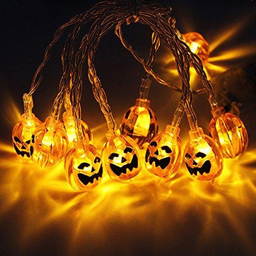 Halloween Eyeball String Lights, 10 ft 20 LED Battery Operated Halloween Lights Waterproof White String Lights for Indoor Outdoor Halloween Parties & Home Decorations Warm White