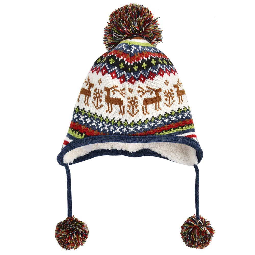Exemaba Baby Toddler Kids Winter Warm Hat for Girls Boys Kintted Beanie Cap