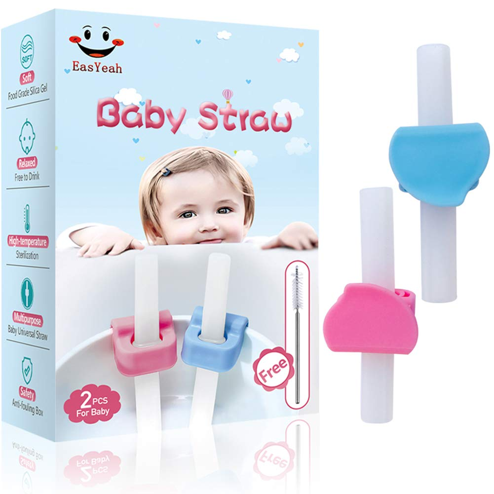 EasYeah Baby Straw, Baby Silicone Straw, Baby Feeding Product, Suitable for Most Baby Bowls, Baby Universal Straw