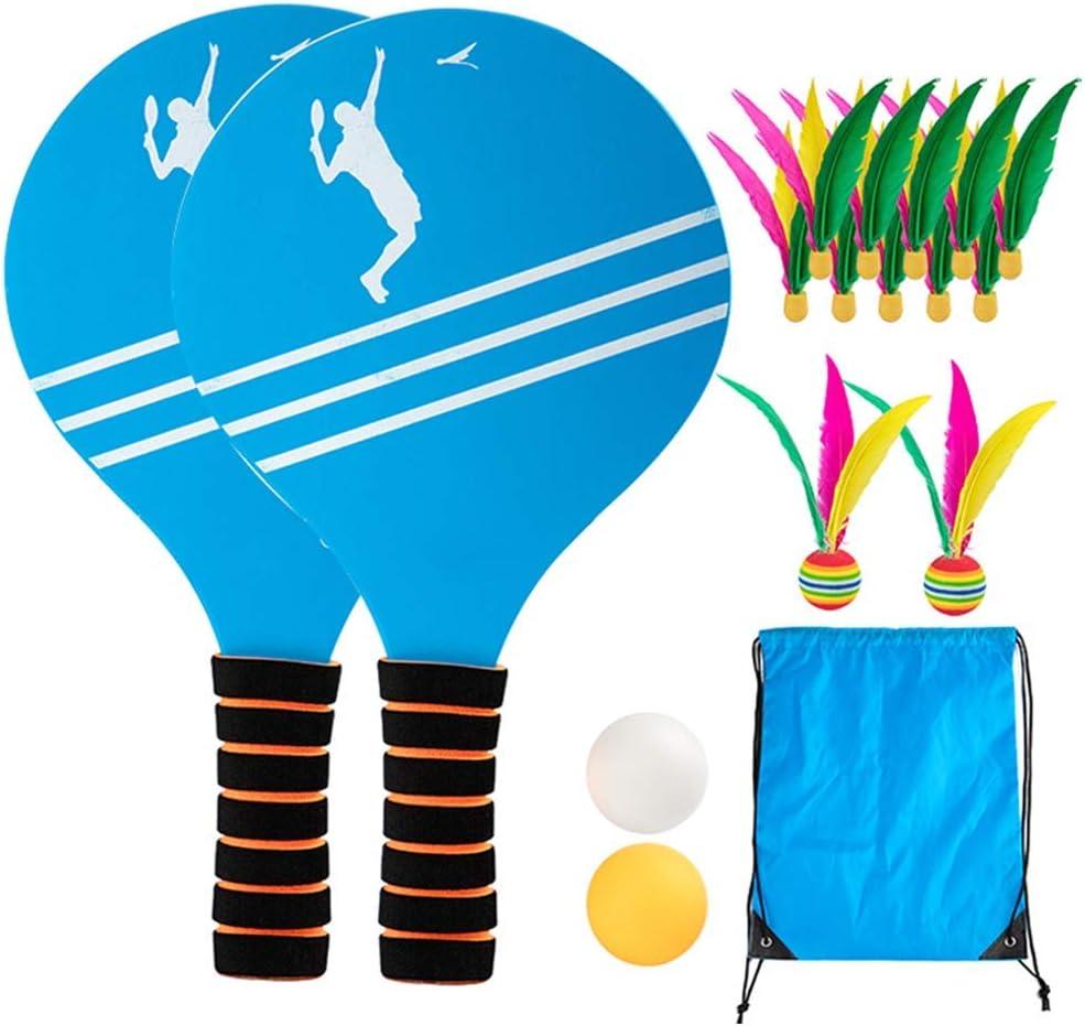 Juego de pelota de pádel YUNZUN, juego de paleta de raqueta de bádminton de tenis de playa con pelotas de ping-pong, juguetes para niños de interior, parque de espacios abiertos de jardín al aire libr