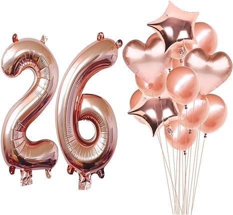 Jumbo 40 Inch Number Balloons Rose Gold 26 Balloons 26 Rose Gold Number Balloons Birthday Number Balloons 26th Birthday Balloons