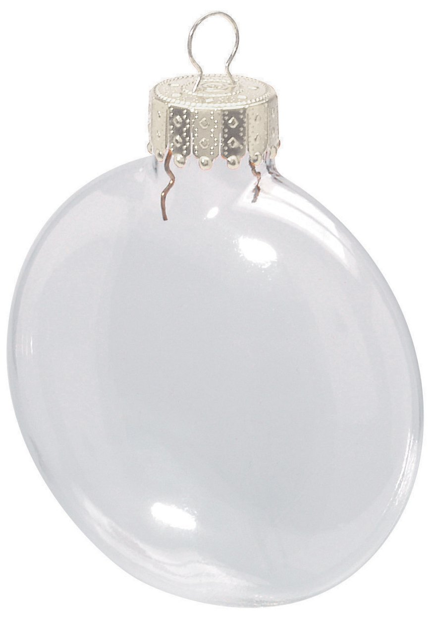 Amazoncom Clear Glass Disc Ornaments 318 inches Home  Kitchen