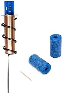 World's Coolest Copper Rain Gauge+Foam Repair Kit.Accurate Floating Rain Gauge for Lawn, Garden (Rain Gauge + Cleaning kit)
