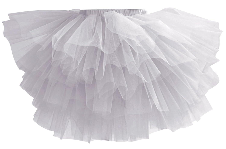 Aivtalk Baby Girls Tutu Skirts Fluffy 6 Layers Tulle Dance Pettiskirts 2-7T