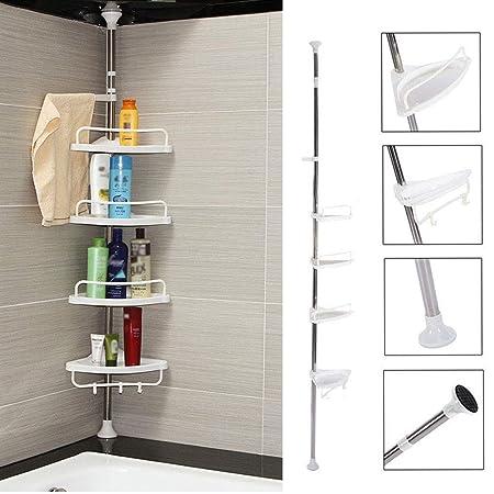 Bathroom Corner Shelf 4 Tier Telescopic Stainless Steel Corner