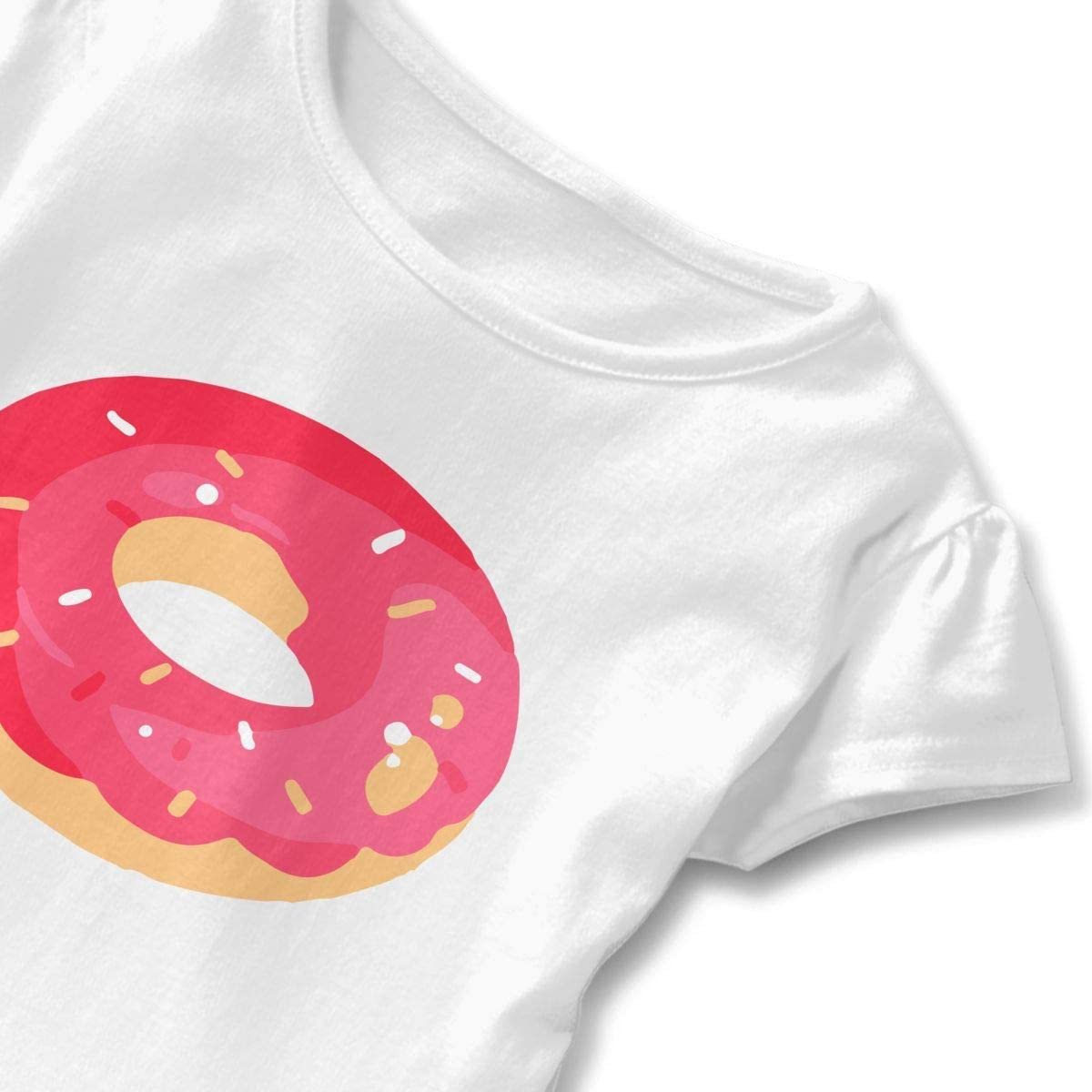 Toddler Baby Girl Love Donuts Trend Cartoon Funny Short Sleeve Cotton T Shirts Basic Tops Tee Clothes