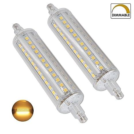 10W R7S Dimmable, Paquete de 2, J118 Bombilla LED 220-240V 118mm Caliente