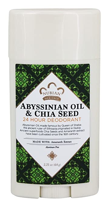 Nubian Heritage Abyssinian Oil & Chia Seed 24 Hour Deodorant
