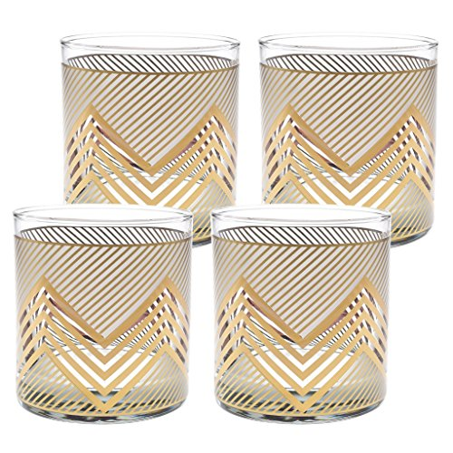 Culver Gold 22k 11-Ounce Old Fashioned Glass Set of 4 - Glasses Culver Gold