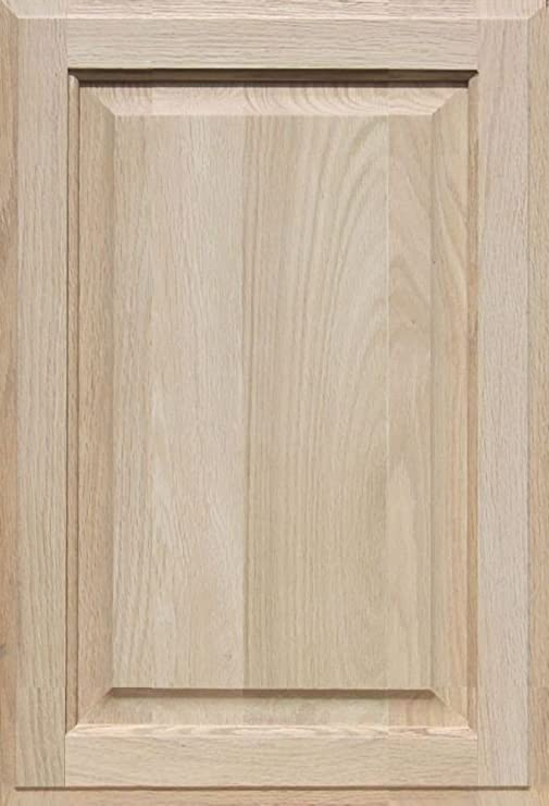 Square with Raised Panel by Kendor 26H x 12W Unfinished Oak Cabinet Door