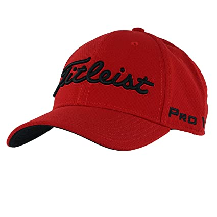 Titleist Dobby Tech Staff Collection Golf Cap 2017 Red White Small Medium cd7270b3924e