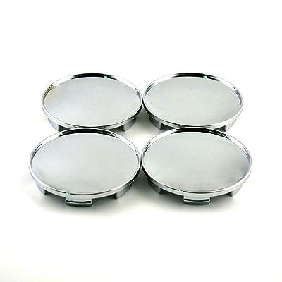 68mm Silver ABS Car Wheel Center Hub Caps Base Set of 4: Automotive
