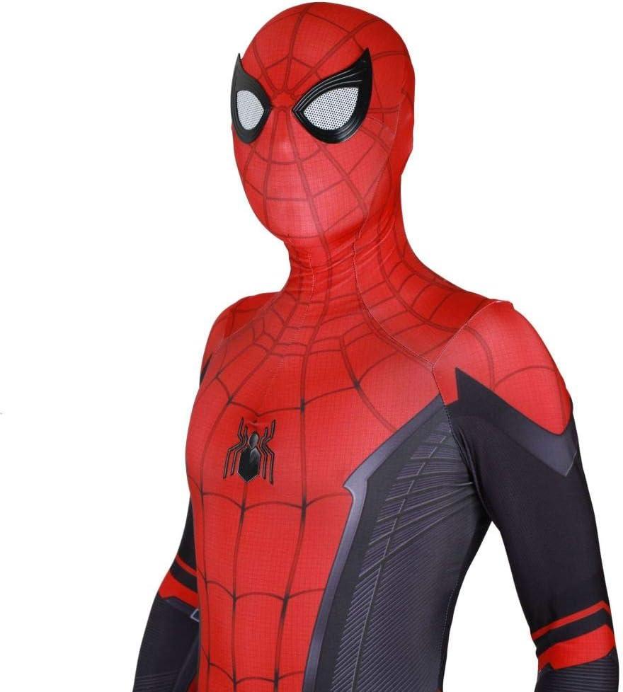 JUFENG Neue Erwachsene Kinder Spider-Man 2019 Halloween Kost/üm Overall 3D Print Spandex Lycra Spiderman Cosplay Body,C-Child//L