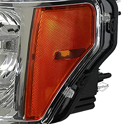 DNA Motoring HL-OH-F1509-CH-AM Headlight Assembly, Driver & Passenger Side: Automotive