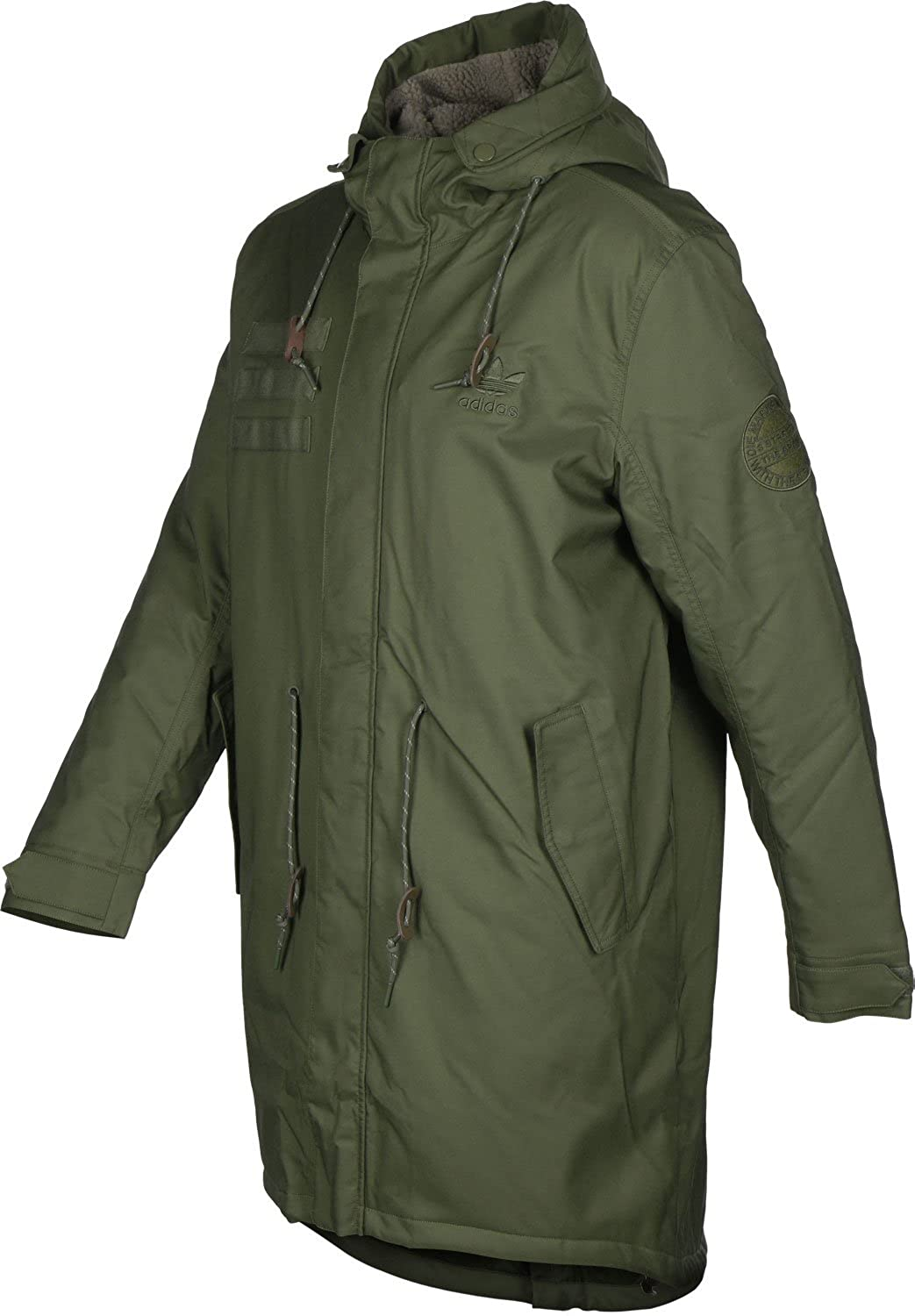 f105c3ee53a4 Adidas Quilted Fur Parka Jacket Men s