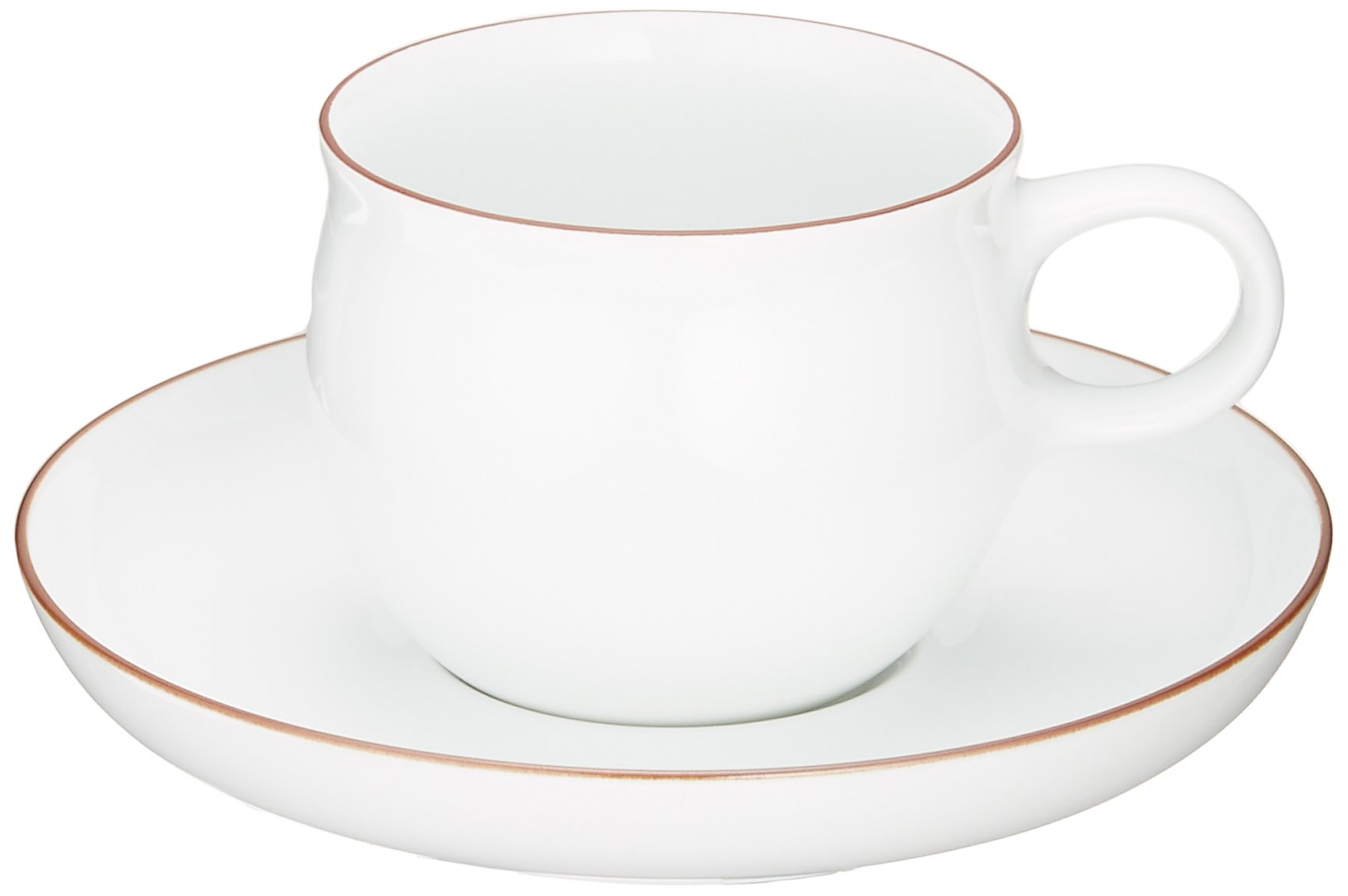 Hakusan pottery G type coffee cup and saucer