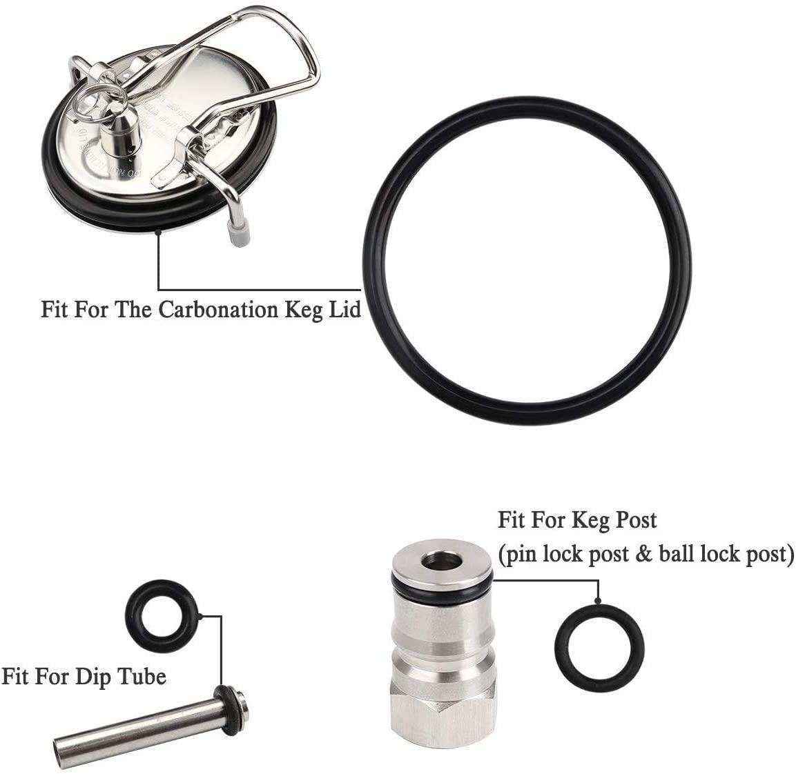 Rotokeg beer keg injector seal