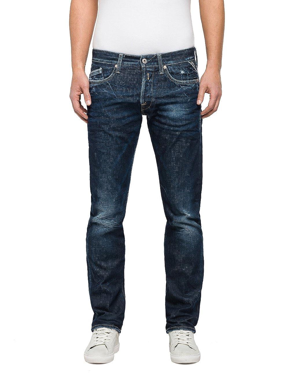 TALLA 32W / 36L. REPLAY Waitom Jeans Rectos para Hombre