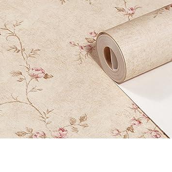 Pastoral Pink Warm Bedroom Wallpaper Small Floral Wallpaper