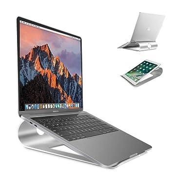 Soporte de aluminio para ordenador portátil de Sausire, para escritorio, cama o regazo.