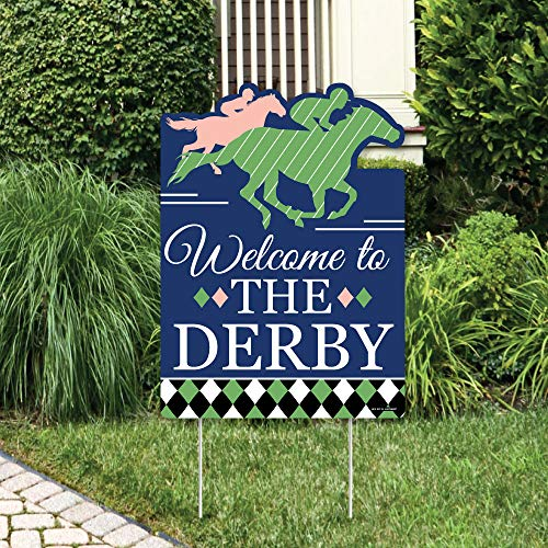 Big Dot of Happiness Kentucky Horse Derby - Party Decorations - Horse Race Party Welcome Yard Sign