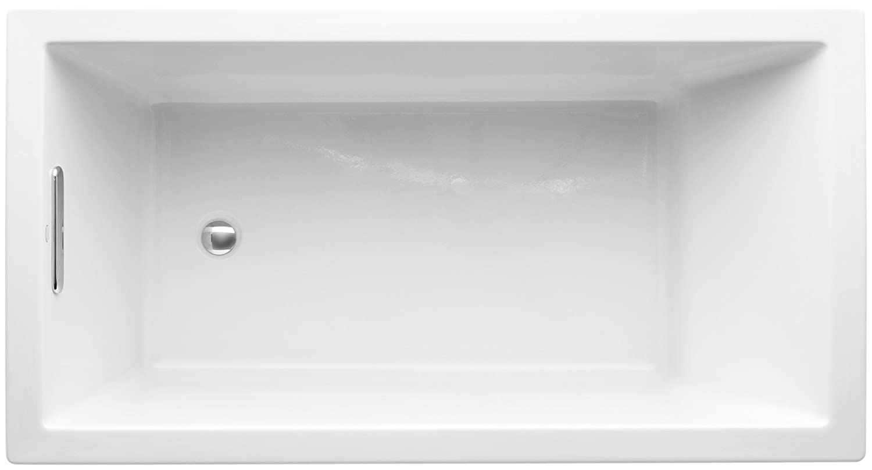 KOHLER K-1130-0 Underscore 5-Foot Acrylic Bath, White - Drop In ...
