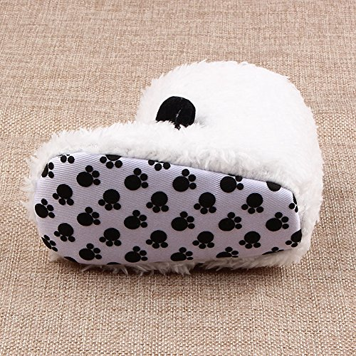 Butterme Neugeborenes jungen Mädchen Korallen Vlies Tier Schaf Prewalker Schuhe Winter warme Baby Aufladungs Krippe Schuhe Weiche untere Baby Schuhe () Weißer Panda