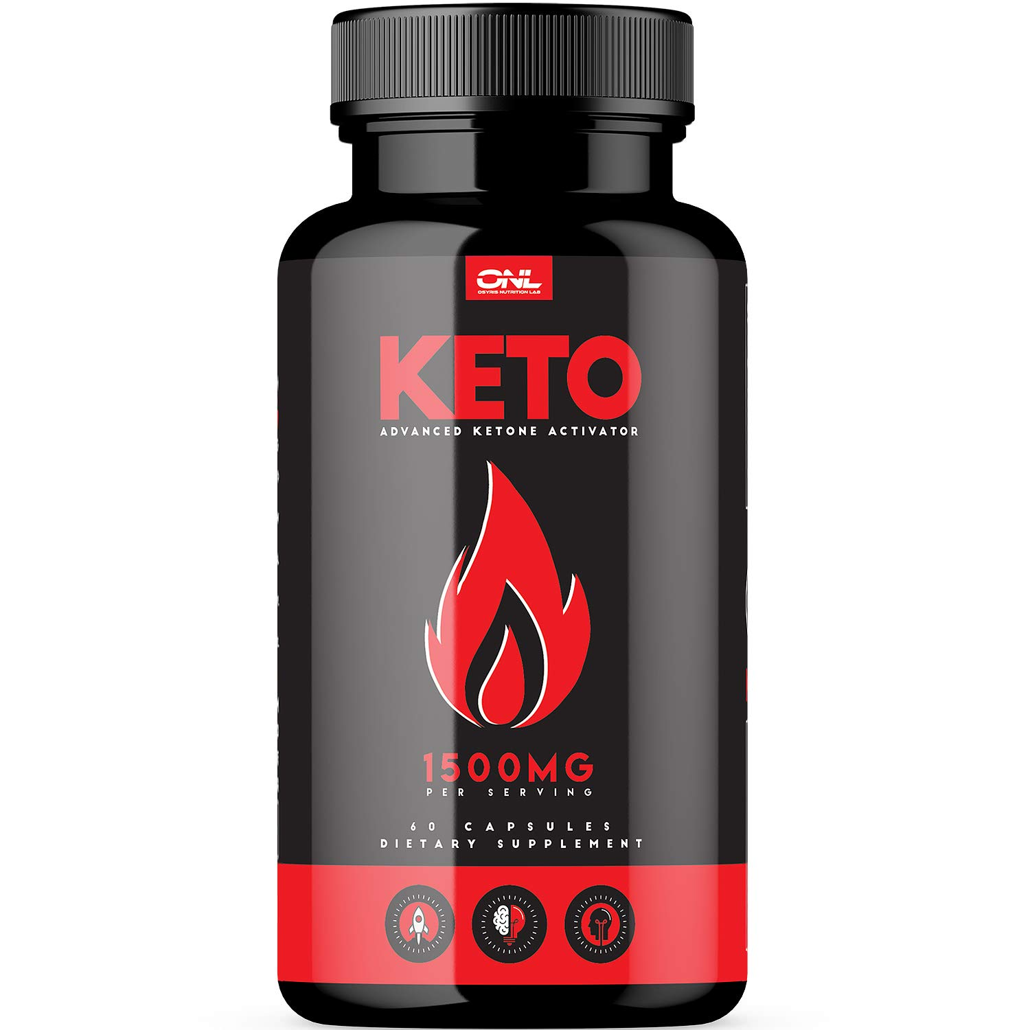Keto | #1 Premium Keto Pills (60 Capsules) for Ketosis, Boost Energy & Metabolism with Exogenous Ketones, BHB Salts, Best Ketogenic Burner for Men & Women - Supports Keto Diet