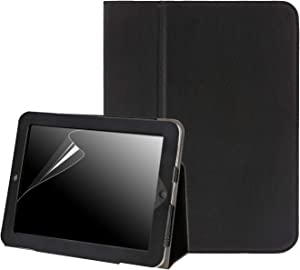 HDE Case for Original iPad 1st Generation - Slim Fit Leather Cover Stand Folio with Magnetic Closure for Apple iPad 1 (Black)