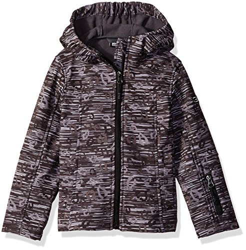 Price comparison product image Weatherproof 32 Degrees Girls' Little Softshell Jacket, Black/Grey/White Print A, 6X