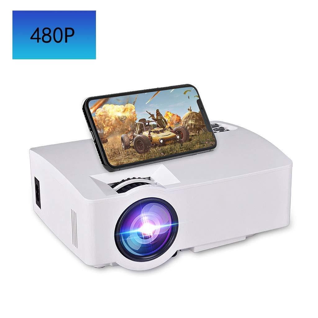HongLianRiven Proyector portátil 480P-Blanco-Multi-Estilo de Cine ...