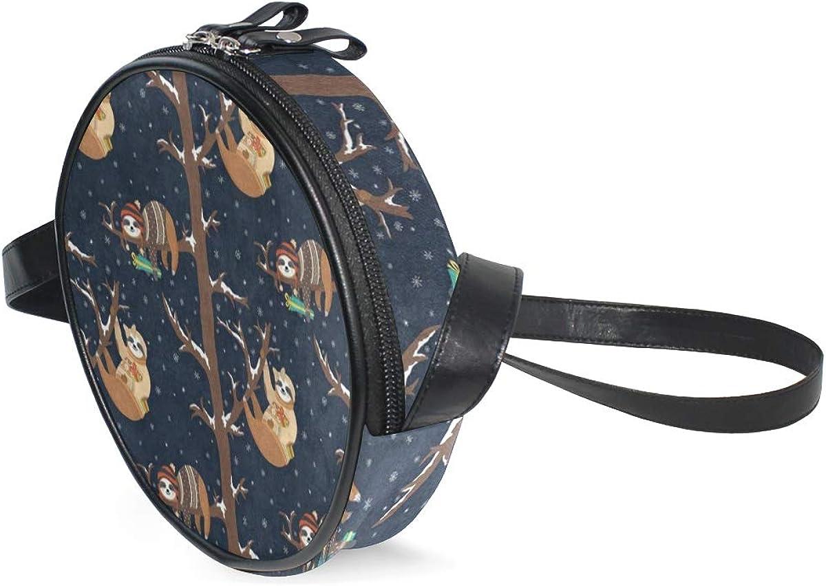 Round Crossbody Bag Winter...