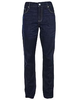 Abercrombie & Fitch - Pantalón vaquero para mujer - Ajustado - Azul oscuro